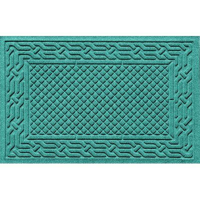 Olivares Acropolis Doormat Color: Aquamarine, Mat Size: Rectangle 30 x 45
