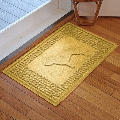 Aqua Shield French Bulldog Doormat Color: Yellow