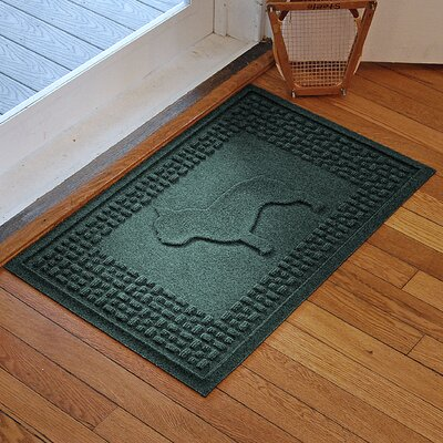 Aqua Shield French Bulldog Doormat Color: Evergreen
