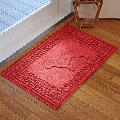 Aqua Shield French Bulldog Doormat Color: Solid Red