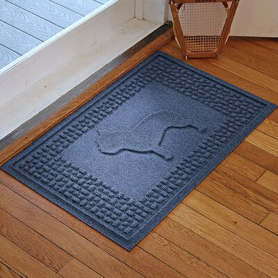 Aqua Shield French Bulldog Doormat Color: Navy