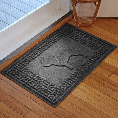 Aqua Shield French Bulldog Doormat Color: Charcoal