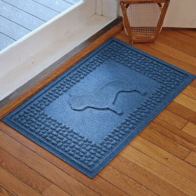 Aqua Shield French Bulldog Doormat Color: Medium Blue