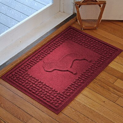 Aqua Shield French Bulldog Doormat Color: Red/Black