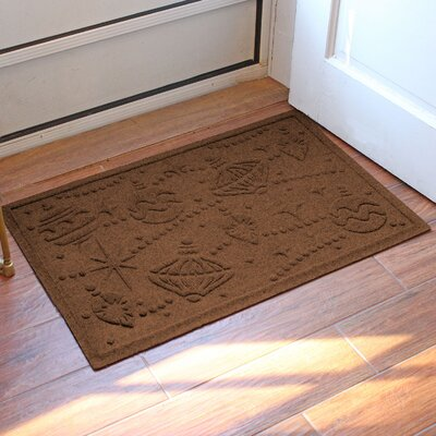 Aqua Shield Ornaments Doormat Color: Dark Brown