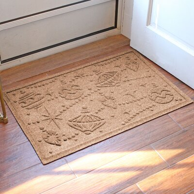 Aqua Shield Ornaments Doormat Color: Medium Brown