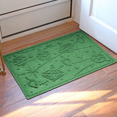 Aqua Shield Ornaments Doormat Color: Light Green