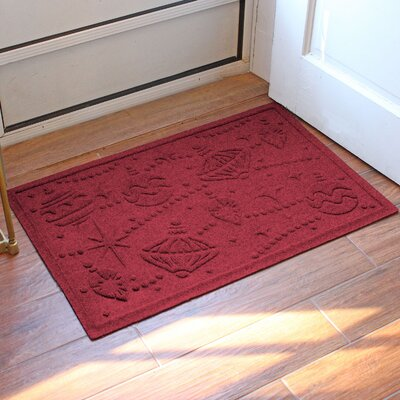 Aqua Shield Ornaments Doormat Color: Red/Black