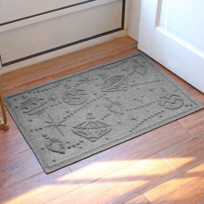 Aqua Shield Ornaments Doormat Color: Medium Gray
