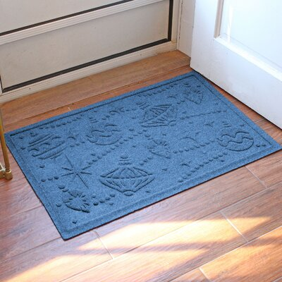 Aqua Shield Ornaments Doormat Color: Medium Blue