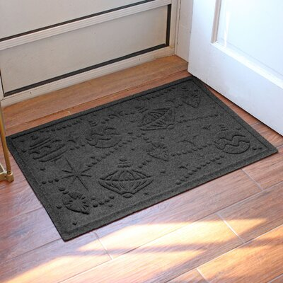 Aqua Shield Ornaments Doormat Color: Charcoal