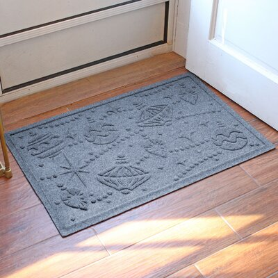 Aqua Shield Ornaments Doormat Color: Bluestone