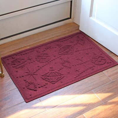 Aqua Shield Ornaments Doormat Color: Bordeaux