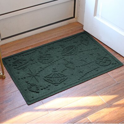 Aqua Shield Ornaments Doormat Color: Evergreen