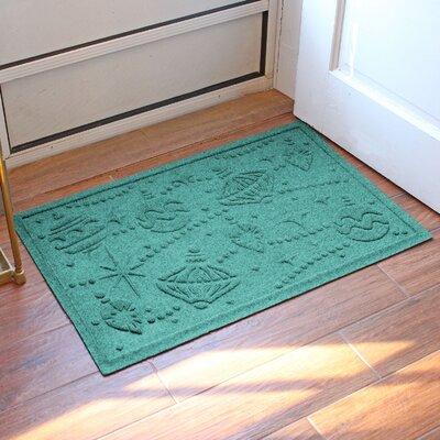 Aqua Shield Ornaments Doormat Color: Aquamarine