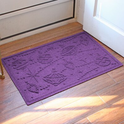 Aqua Shield Ornaments Doormat Color: Purple