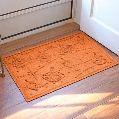 Aqua Shield Ornaments Doormat Color: Orange