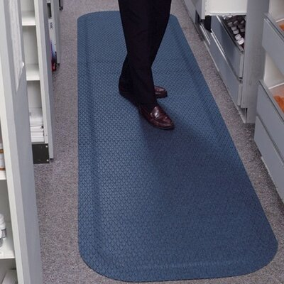 Hog Heaven Fashion Anti-Fatigue Doormat Color: Cobalt Blue, Rug Size: 3 x 5