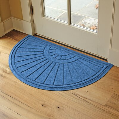 Landry Sunburst Doormat Color: Medium Blue
