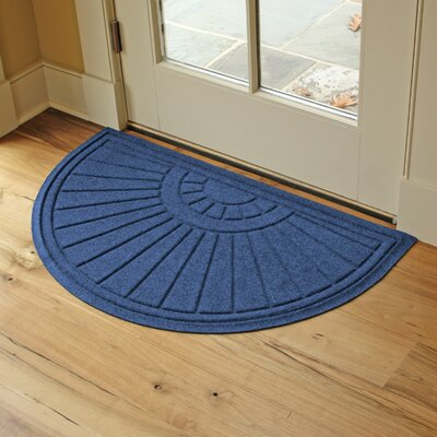 Landry Sunburst Doormat Color: Navy
