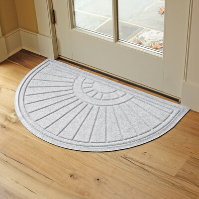 Landry Sunburst Doormat Color: White