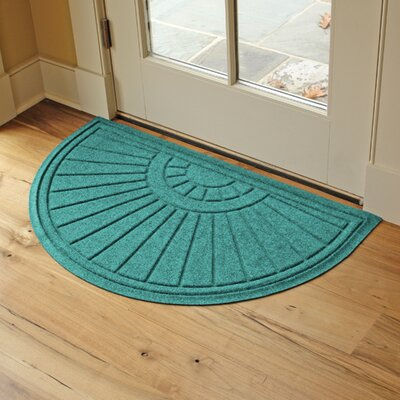 Landry Sunburst Doormat Color: Aquamarine