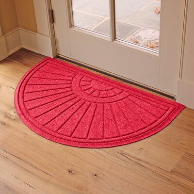 Landry Sunburst Doormat Color: Solid Red