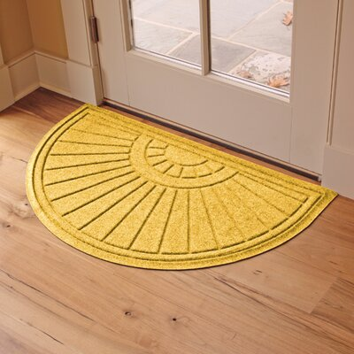 Landry Sunburst Doormat Color: Yellow