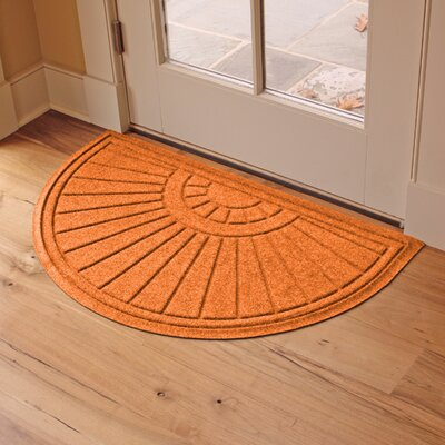 Landry Sunburst Doormat Color: Orange