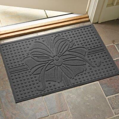 Wrap It Up Outdoor Doormat Color: Charcoal