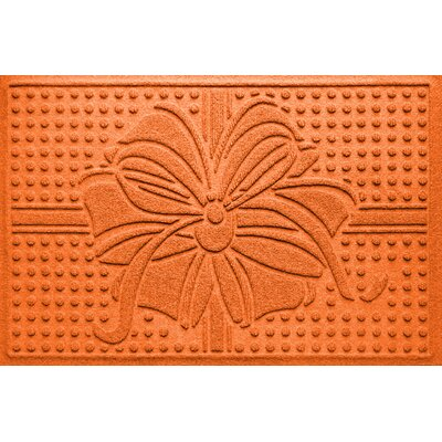 Wrap It Up Outdoor Doormat Color: Orange
