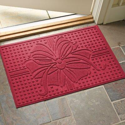 Wrap It Up Outdoor Doormat Color: Red/Black