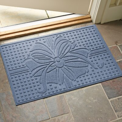 Wrap It Up Outdoor Doormat Color: Bluestone