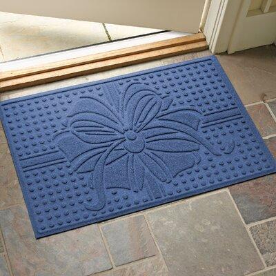 Wrap It Up Outdoor Doormat Color: Navy