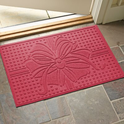 Wrap It Up Outdoor Doormat Color: Solid Red