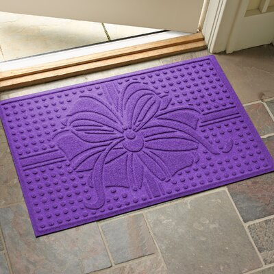 Wrap It Up Outdoor Doormat Color: Purple