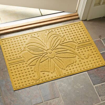 Wrap It Up Outdoor Doormat Color: Yellow