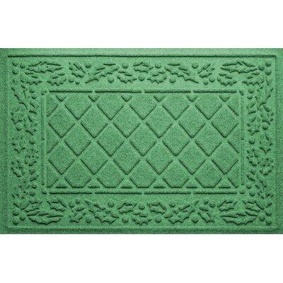 Olivares Diamond Holly Outdoor Doormat Color: Light Green