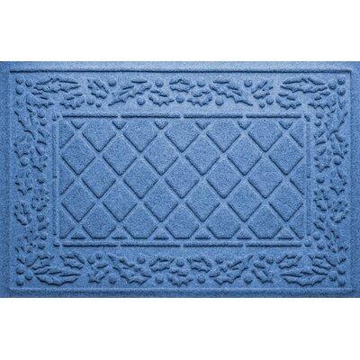 Olivares Diamond Holly Outdoor Doormat Color: Medium Blue