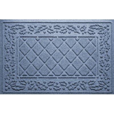 Olivares Diamond Holly Outdoor Doormat Color: Bluestone