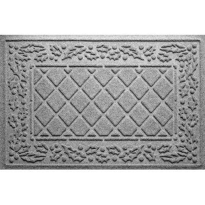 Olivares Diamond Holly Outdoor Doormat Color: Medium Gray