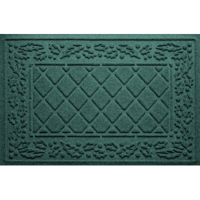 Olivares Diamond Holly Outdoor Doormat Color: Evergreen