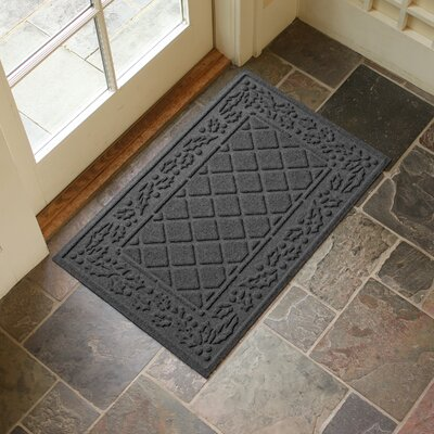 Olivares Diamond Holly Outdoor Doormat Color: Charcoal
