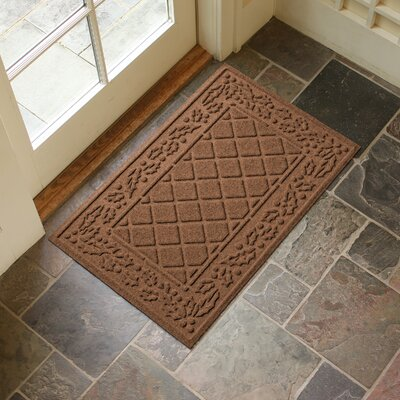 Olivares Diamond Holly Outdoor Doormat Color: Dark Brown
