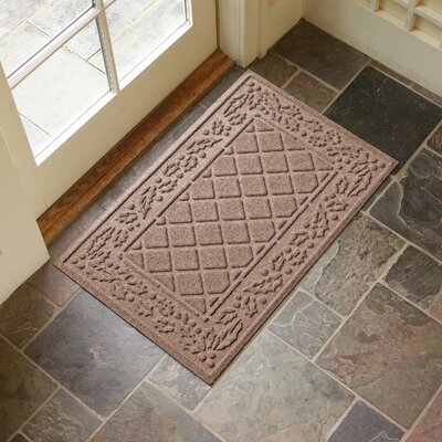 Olivares Diamond Holly Outdoor Doormat Color: Medium Brown