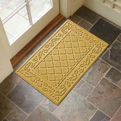 Olivares Diamond Holly Outdoor Doormat Color: Yellow