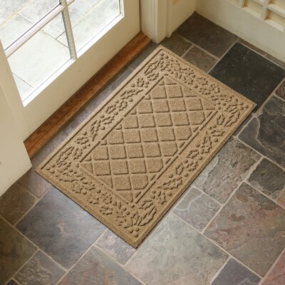 Olivares Diamond Holly Outdoor Doormat Color: Gold