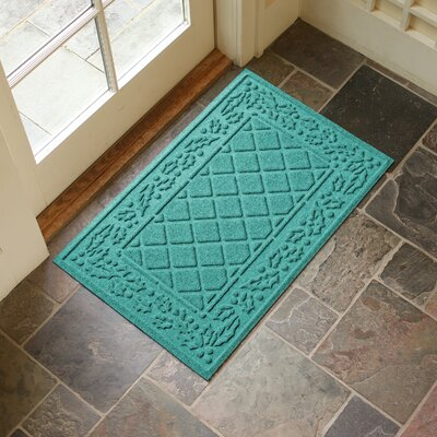 Olivares Diamond Holly Outdoor Doormat Color: Aquamarine