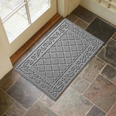 Olivares Diamond Holly Outdoor Doormat Color: Medium Gray