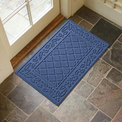 Olivares Diamond Holly Outdoor Doormat Color: Navy